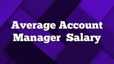 Average Account Manager Salary