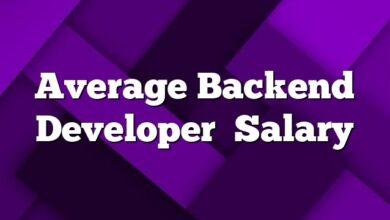 Average Backend Developer Salary