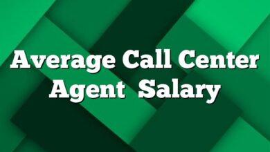 Average Call Center Agent Salary