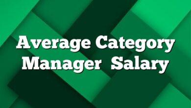 Average Category Manager Salary