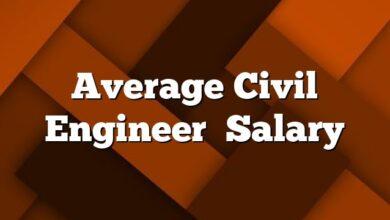 Average Civil Engineer  Salary