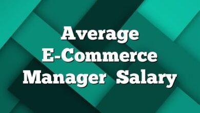 Average E-Commerce Manager  Salary