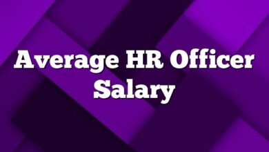 Average HR Officer  Salary