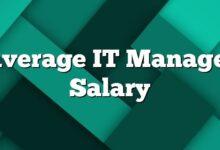 Average IT Manager Salary