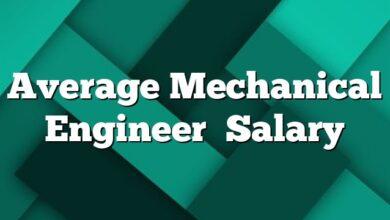 Average Mechanical Engineer Salary