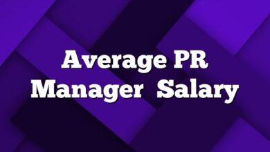 Average PR Manager Salary