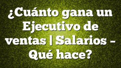 ¿Cuánto gana un Ejecutivo de ventas   Salarios – Qué hace?