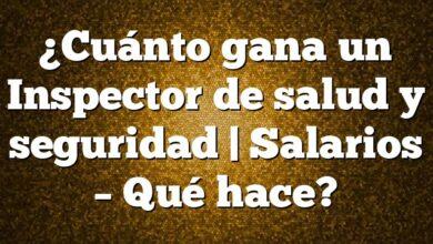 ¿Cuánto gana un Inspector de salud y seguridad | Salarios – Qué hace?