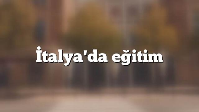 İtalya'da eğitim