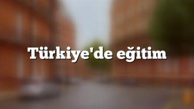 Türkiye'de eğitim