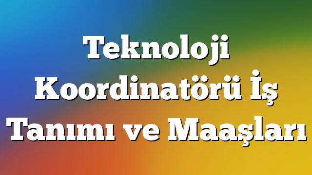Teknoloji Koordinatörü İş Tanımı ve Maaşları