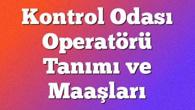 Kontrol Odası Operatörü Tanımı ve Maaşları