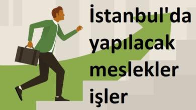 istanbul'da yapılacak meslekler
